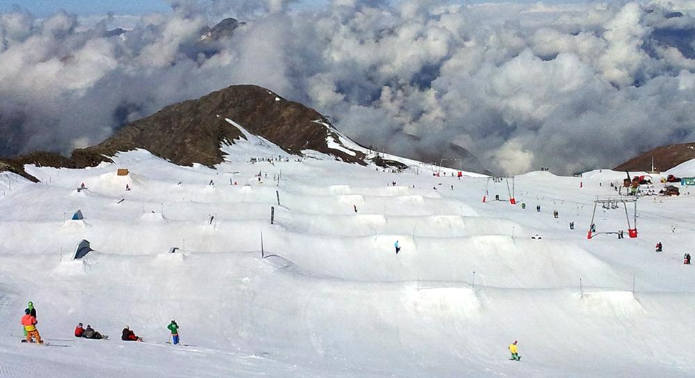 Snowpark les2alpes in de zomer